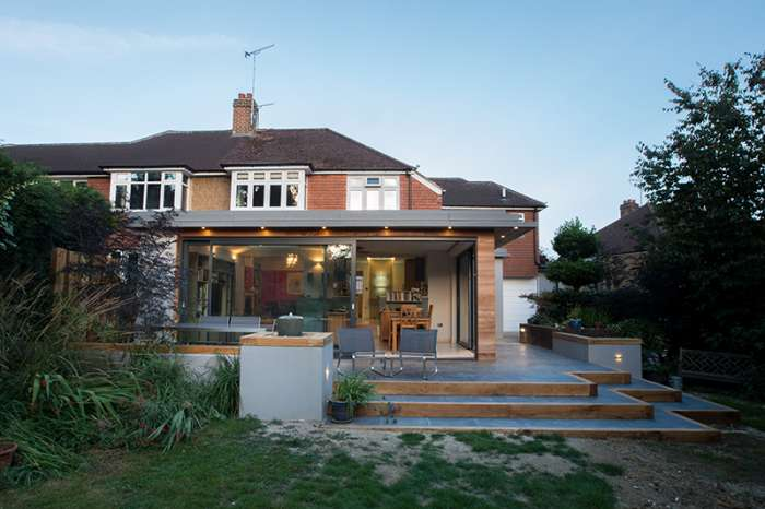 Rear extension in Red Hill Surrey